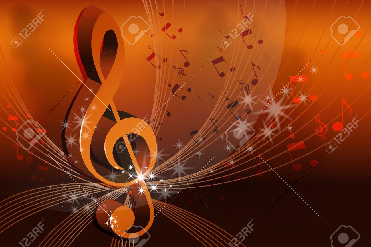 illustration of music card on abstract background - 9438602