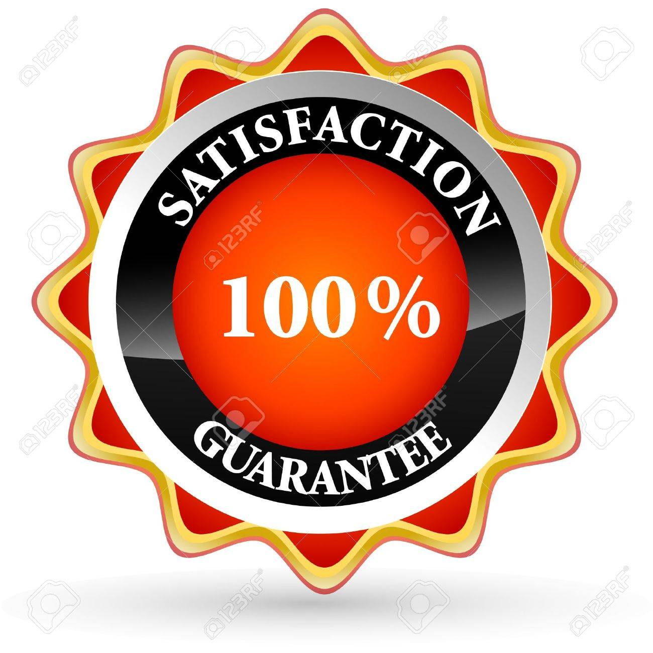 illustration of 100% satisfaction tag on white background - 9438460
