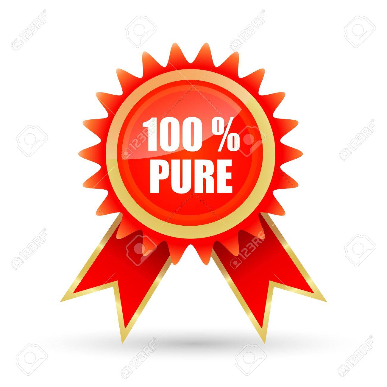 illustration of 100% pure tag on white background Stock Vector - 9438532