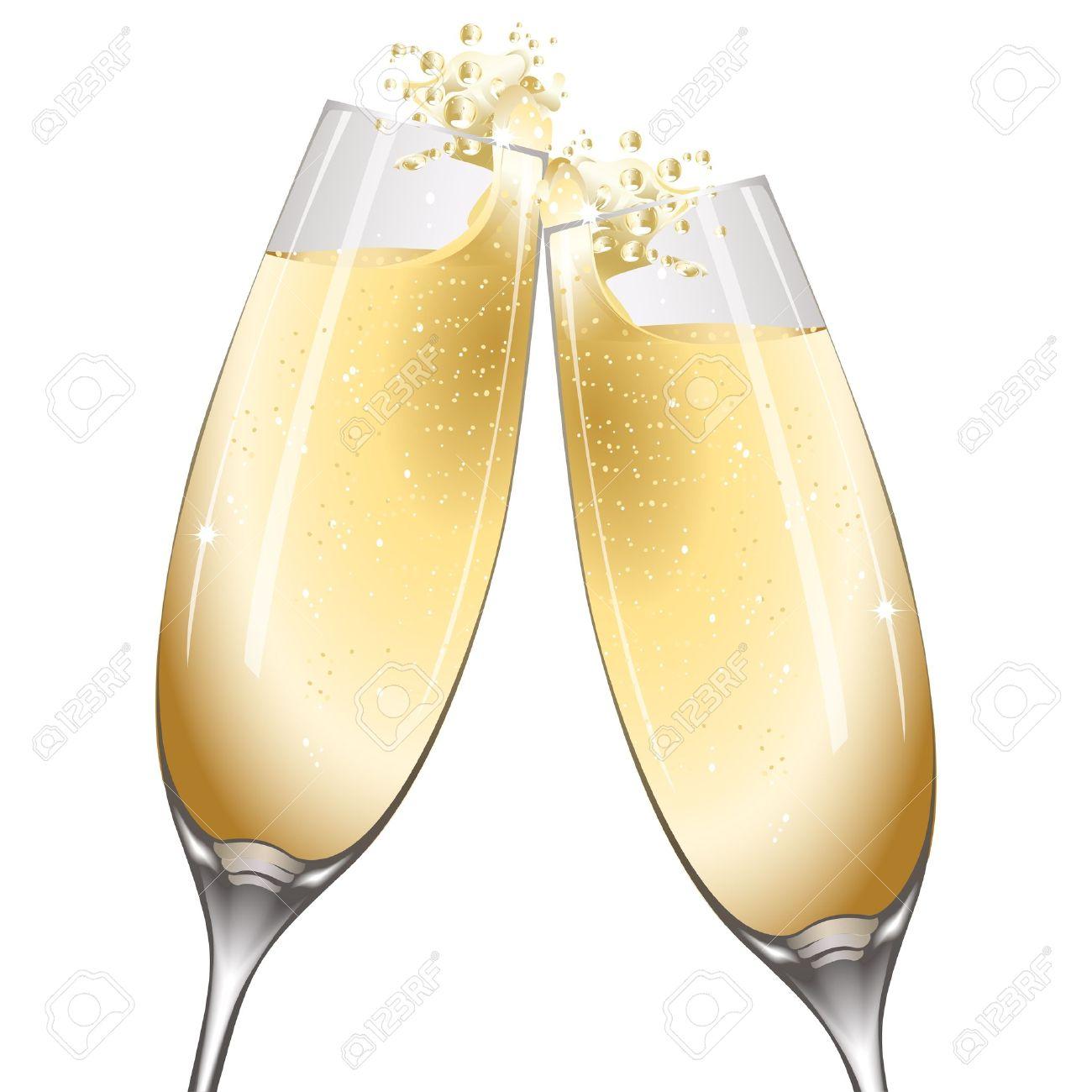 illustration of celebration with wine on white background - 9438610