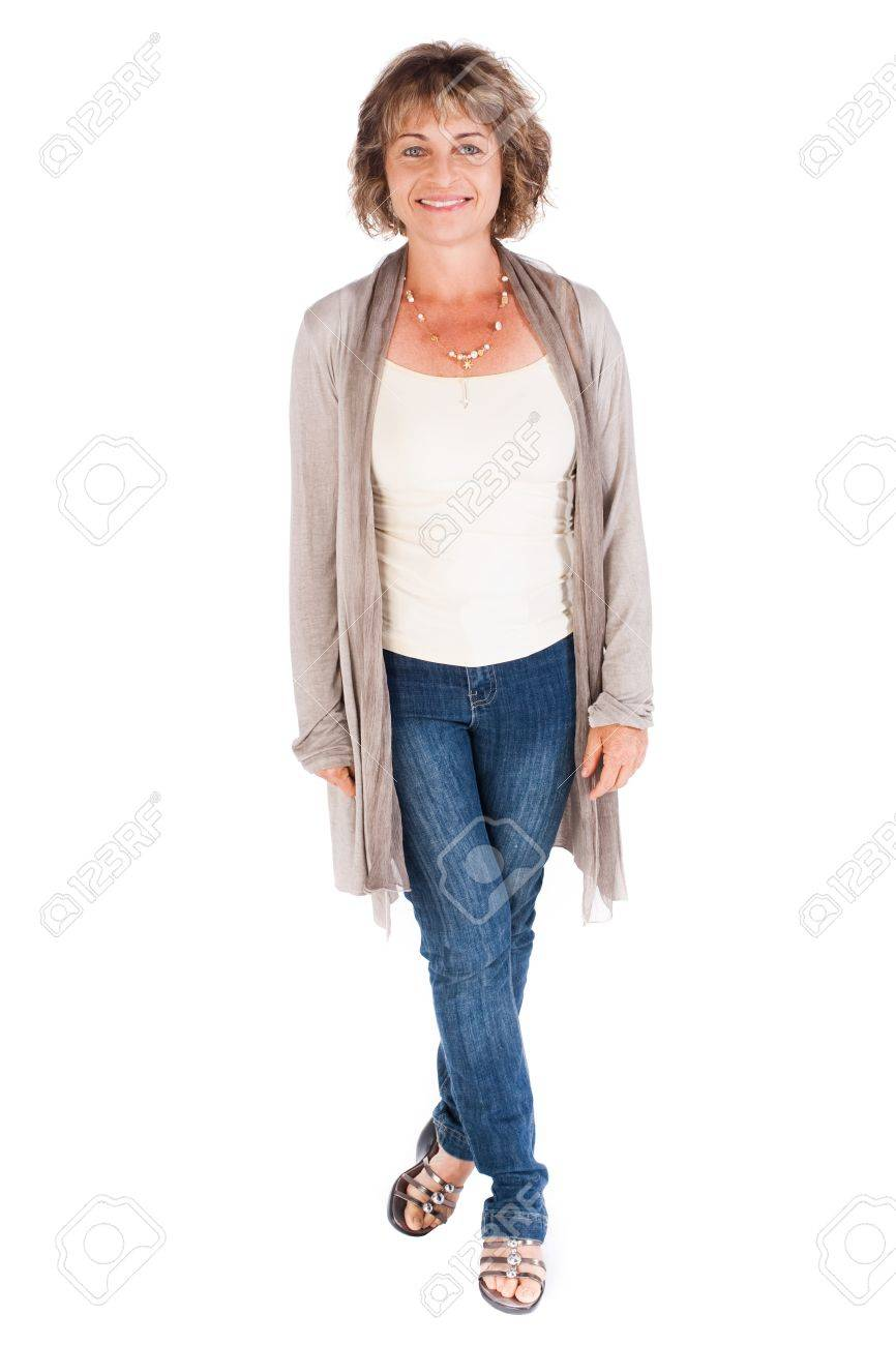 Portrait of a smiling senior woman isolated over white background.. - 9796438