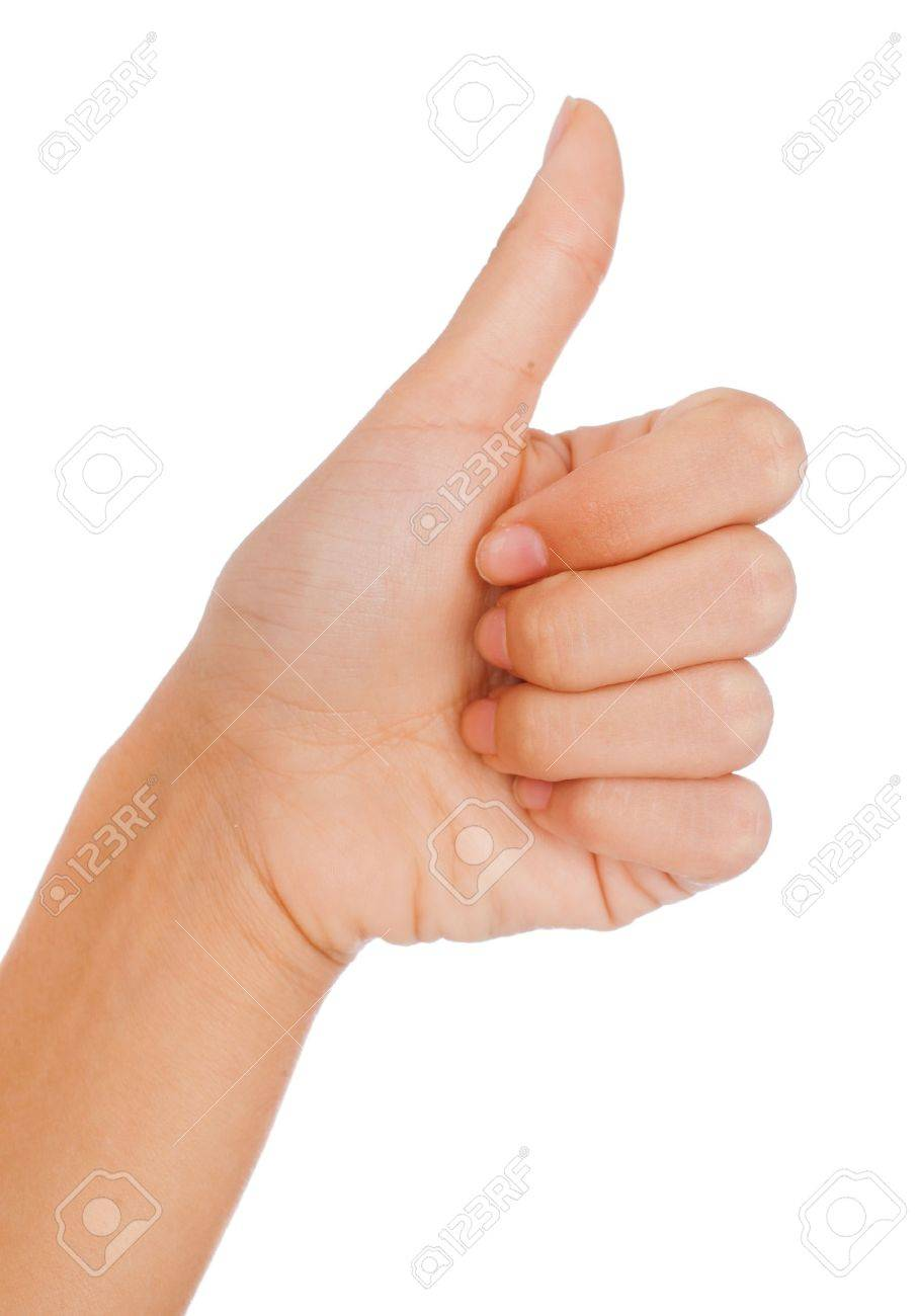 Thumbs up gesture. Woman - 10101065
