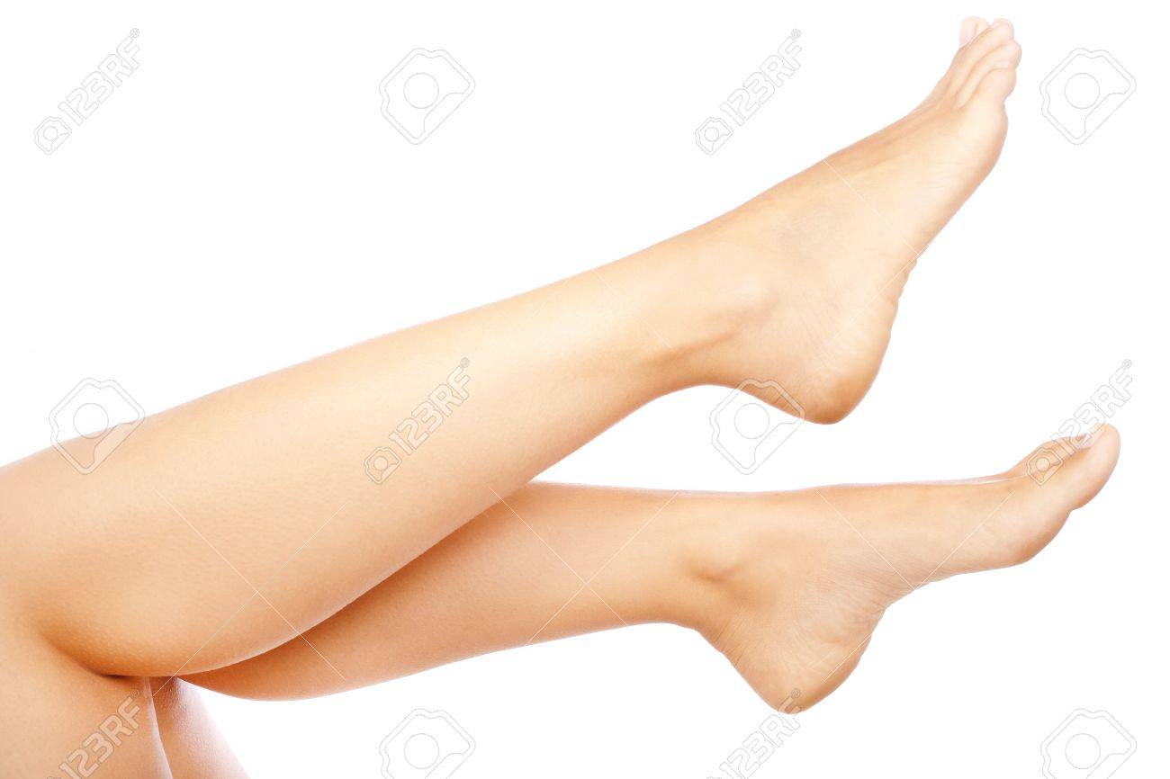 Woman legs isolated over white background - 10172706
