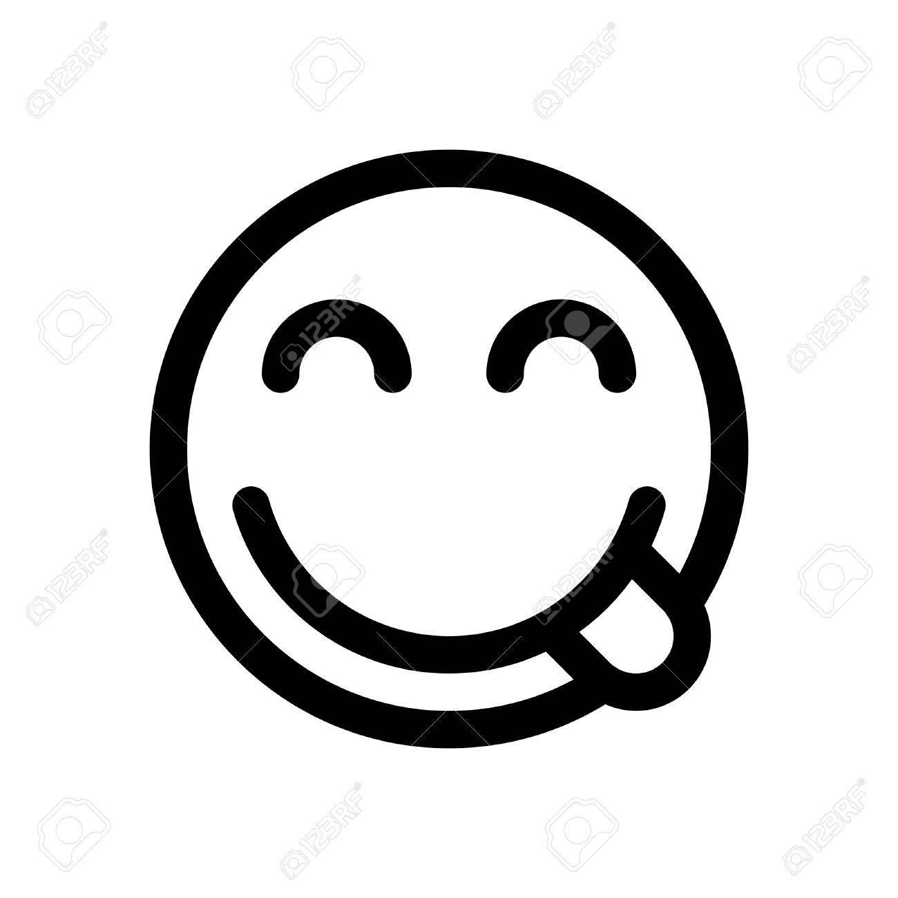 emoji savouring delicious food - 86306765
