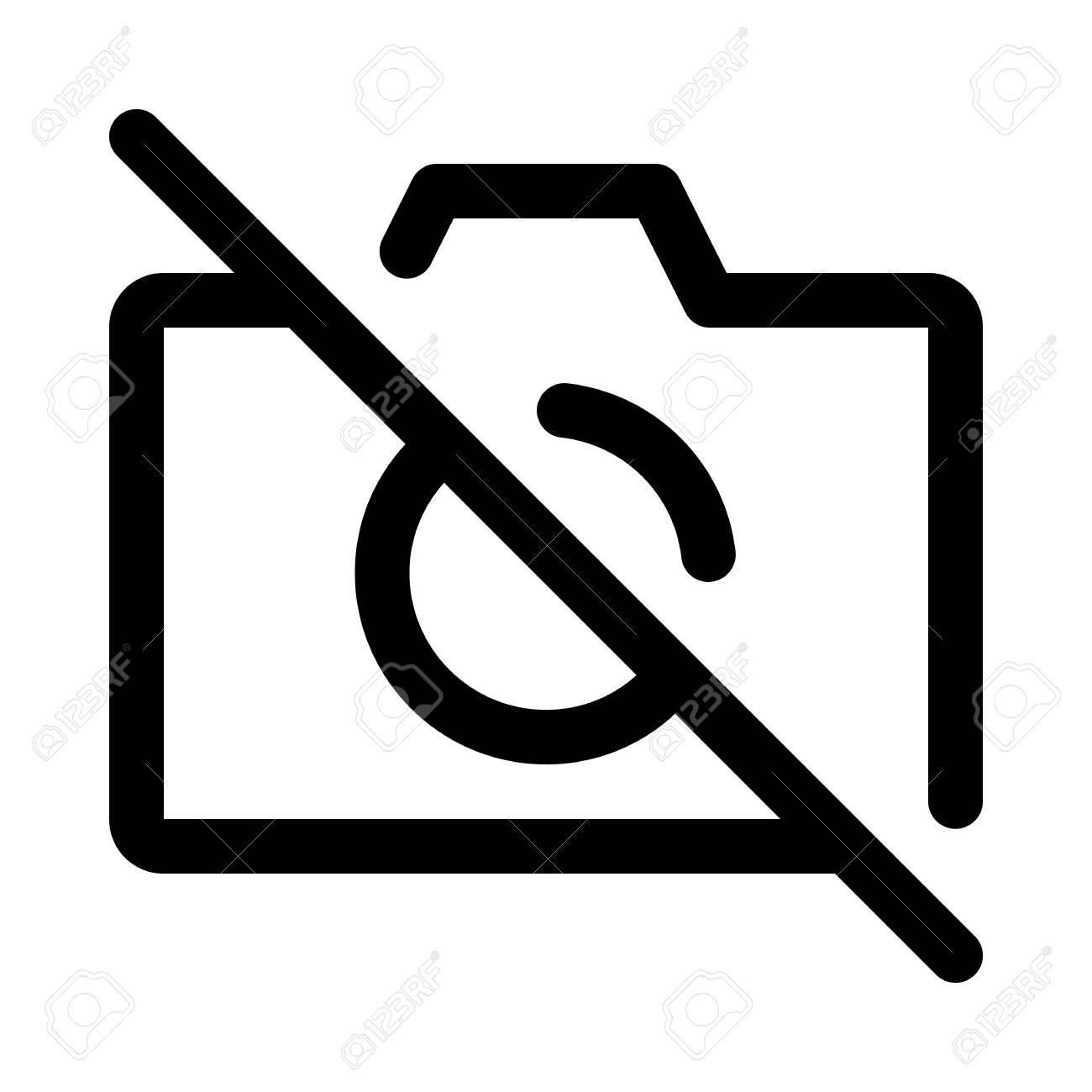 EPS Illustration - No photos, no cameras, no flash ico. Vector Clipart  gg71940452 - GoGraph