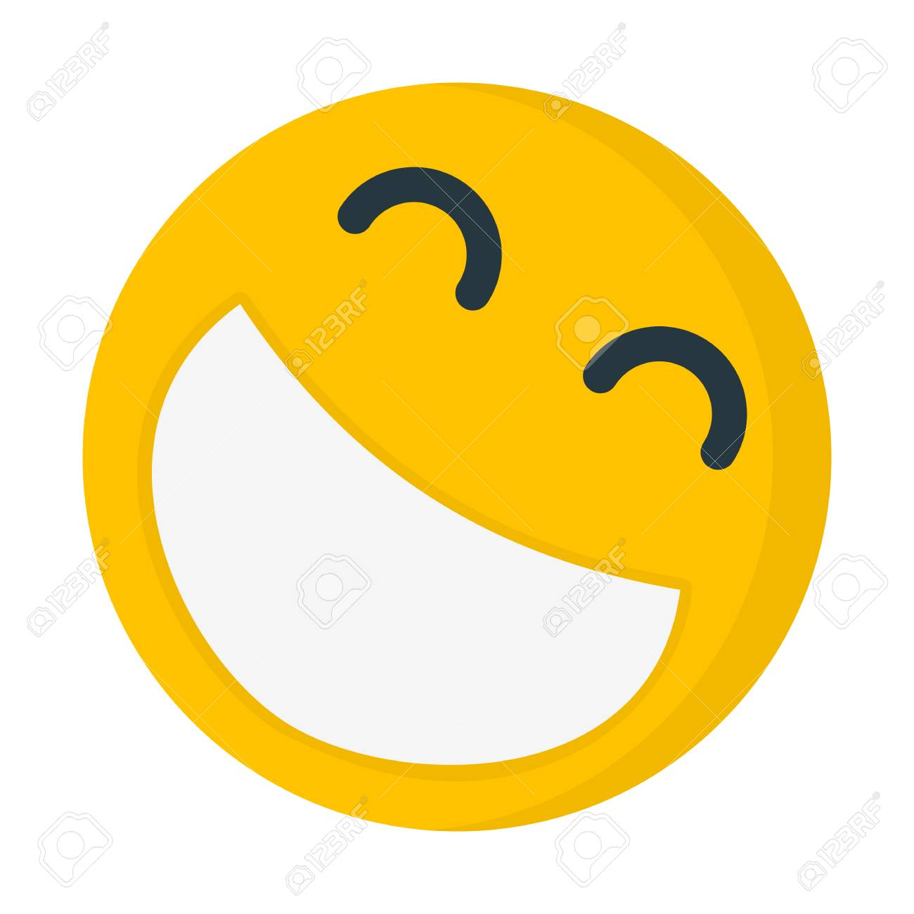 laughing emoji illustration stock vector 94675966