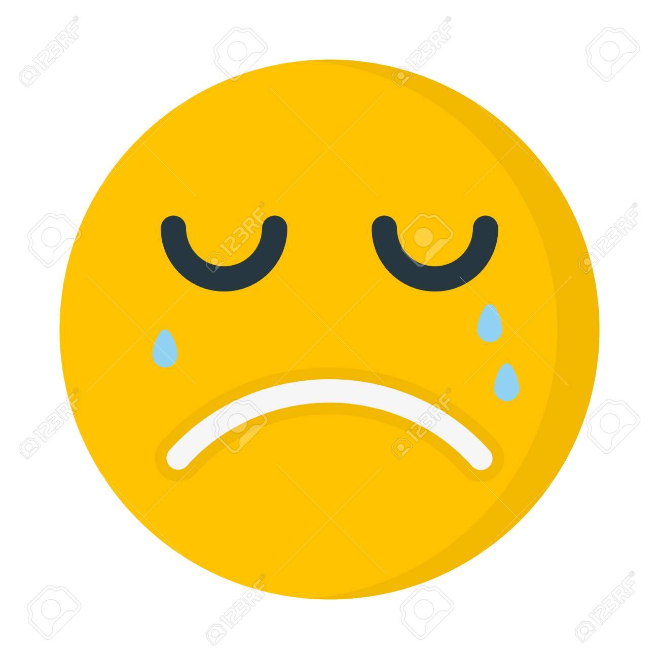 Crying Emoji Stock Vector