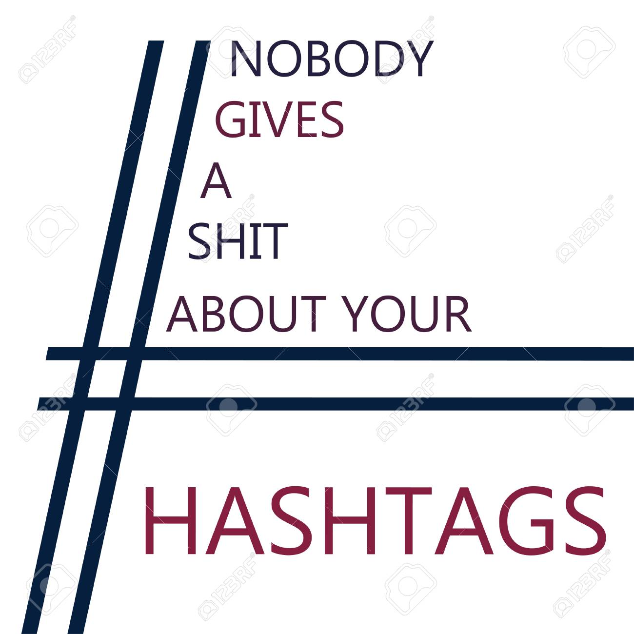 Hashtag Meaning Understandable Symbol Text Phrase Royalty Free