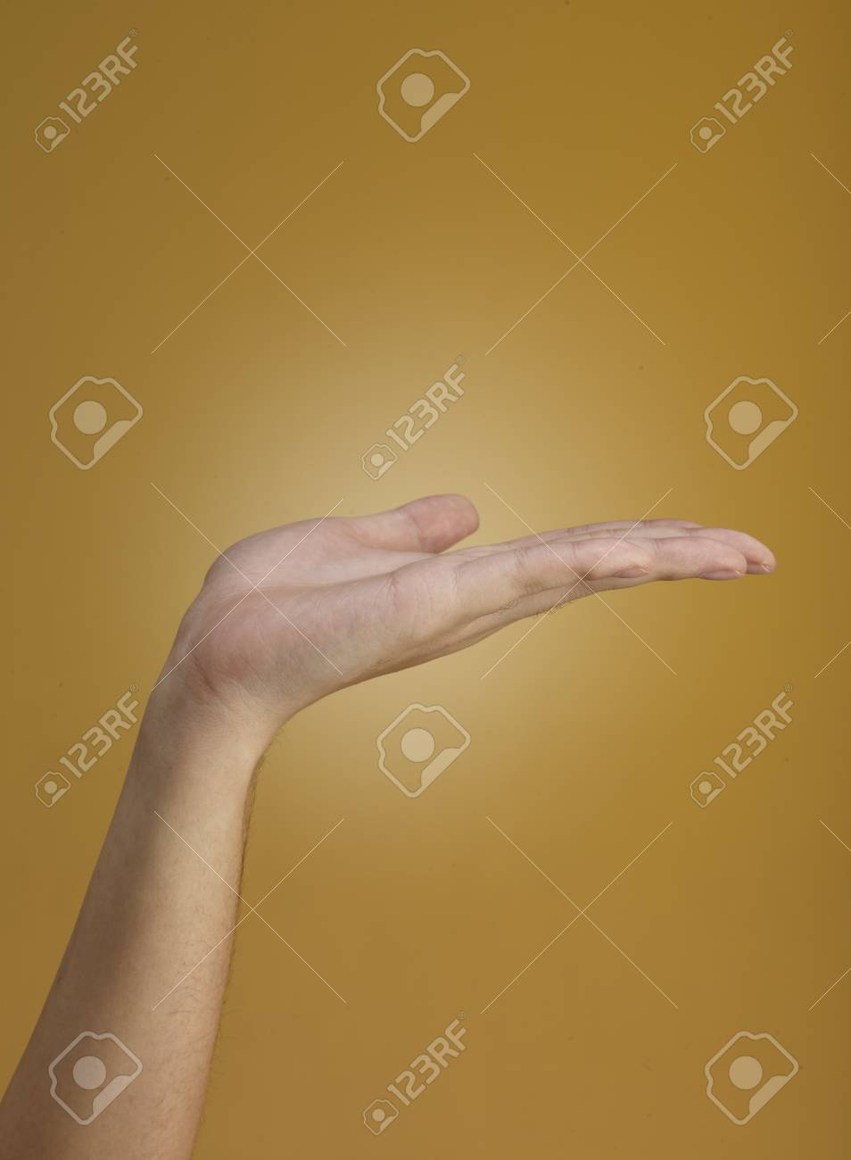 Female hand  isolated on brown background Stock Photo - 11703922