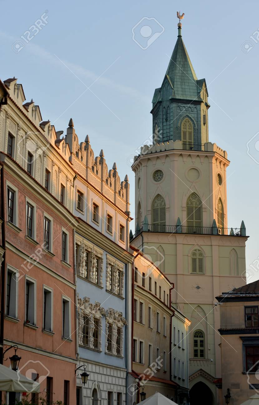 these buildings are rounded the market square of lublin poland