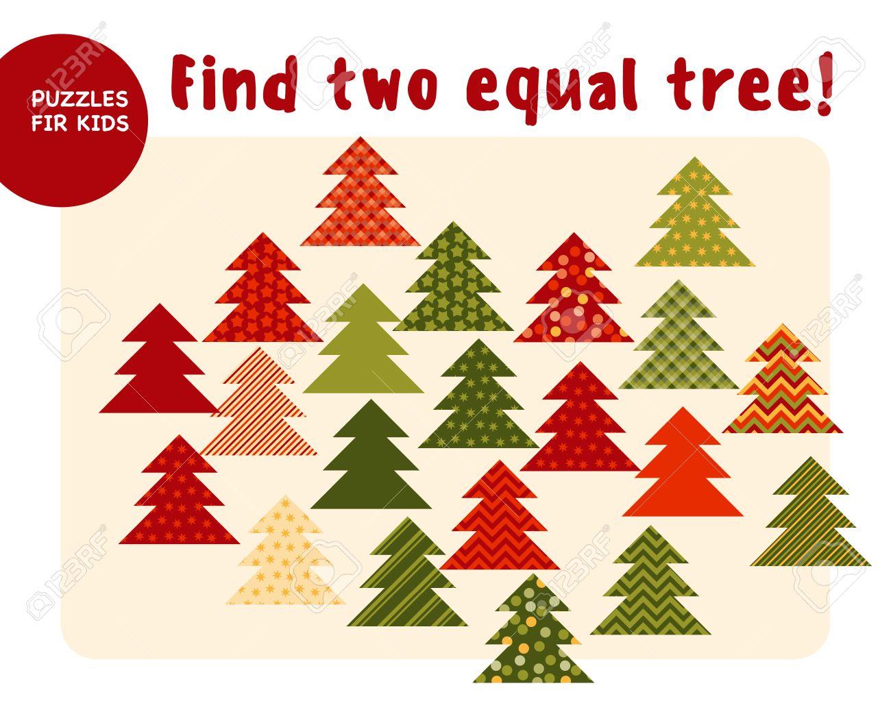 Los Pequeños árboles De Navidad En El Estilo Tradicional Del Color ...