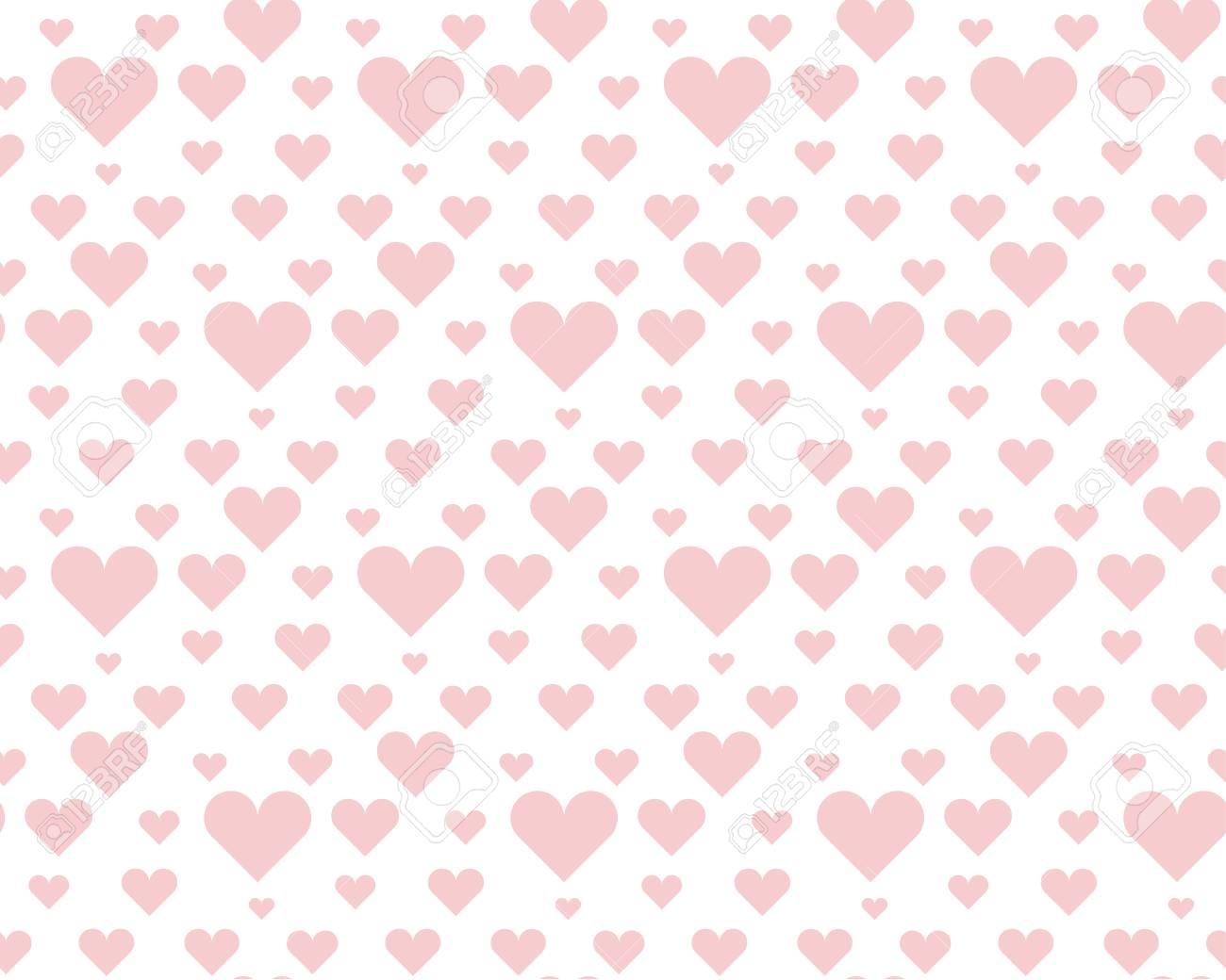 Patrón De Lunares Sin Fisuras De Color Rosa Pálido De San Valentín ...