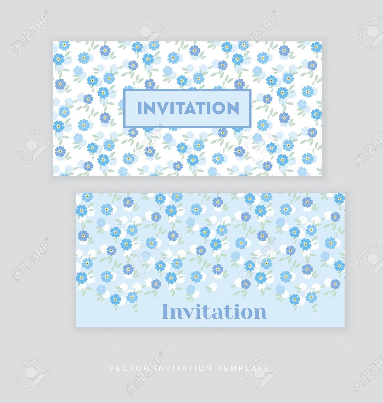 Flor De La Primavera Plantilla De Tarjeta De Invitación Ilustración Vectorial Sencillo Elegante Floral Para Cabecera Cubierta Impresiones De La