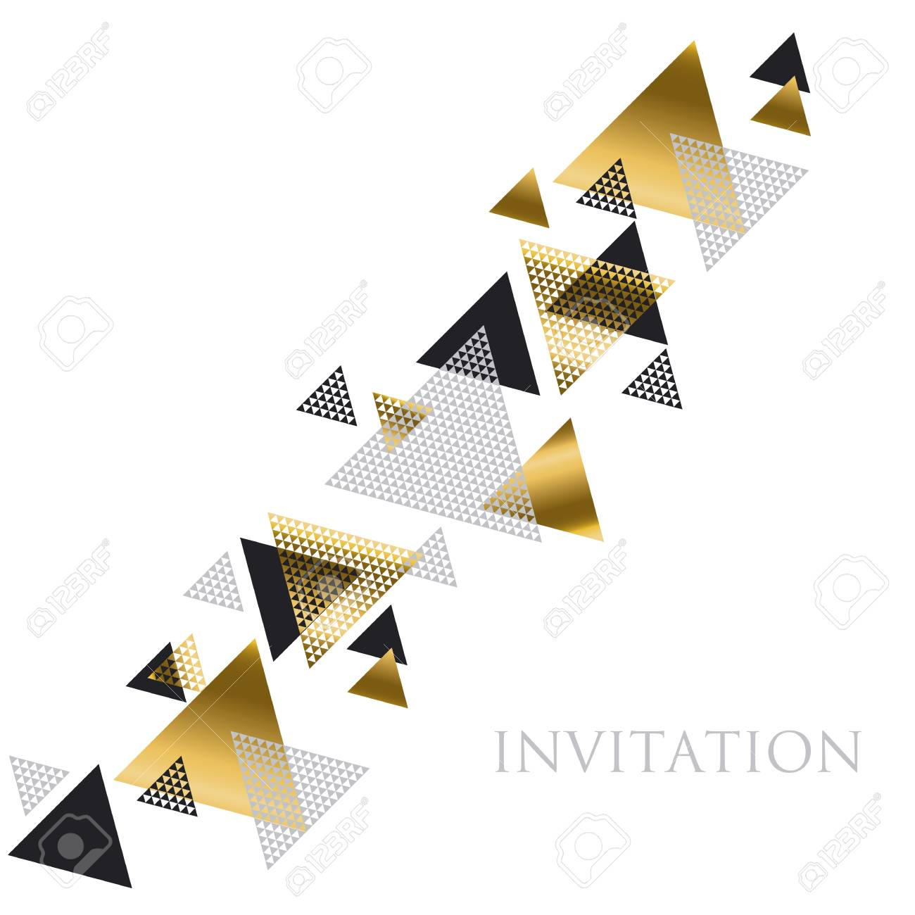Triangle geometry abstract vector illustration for header banco de imagens triangle geometry abstract vector illustration for header invitation banner card concept gold luxury new retro style dynamic pattern stopboris Images