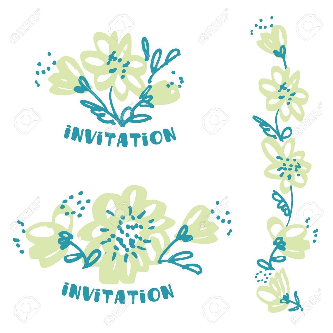 Fleur à Dessin à Main Levée En Couleur Pâle Pâle élément De Design Floral En Parfait Pour Carte En Tête Invitation Illustration Vectorielle Pour