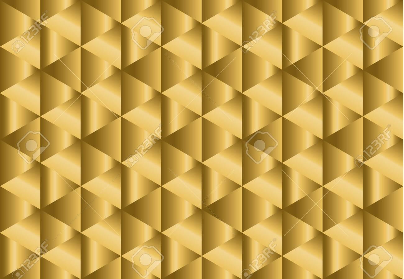 長方形とシックな金紙錯覚シームレス パターン 明るいイエロー幾何学