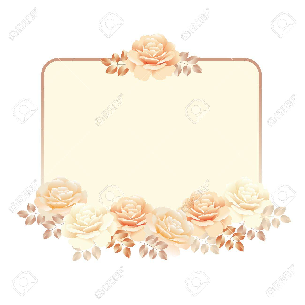 Floral frame for invitation template pearl color yellow rose floral frame for invitation template pearl color yellow rose vector illustration stock vector 81566622 stopboris Images