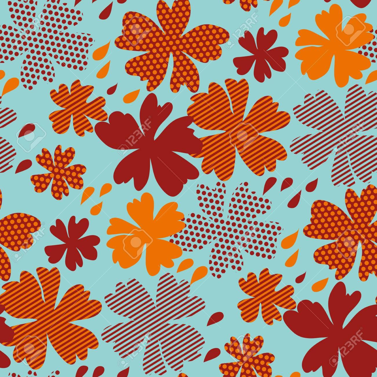 Illustration De Modèle Stylisé Floral Vector Automne. Tomber Couleur ...