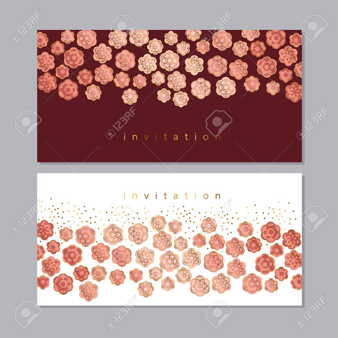Pale blossom elegant floral pattern for wedding projects spring pale blossom elegant floral pattern for wedding projects spring invitation vector illustration with geometric stopboris Choice Image
