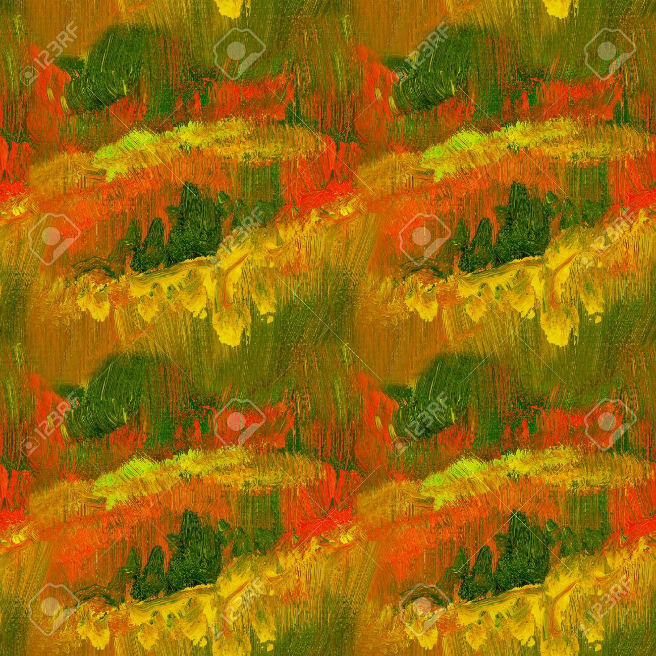 Abstract Fall Color Oil Paint Background Colorful Paint Texture