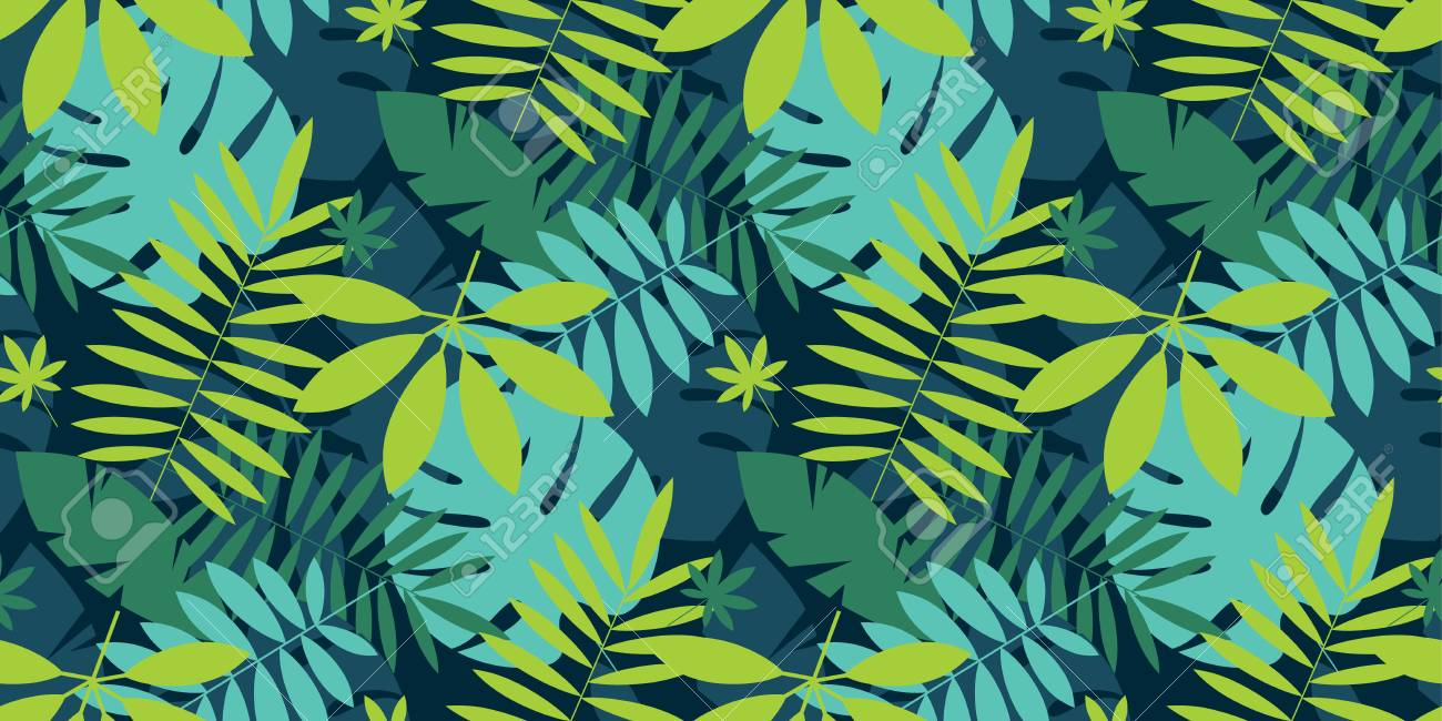 Simple Green Tropical Leaves Design Seamless Pattern For Card Royalty Free Cliparts Vectors And Stock Illustration Image 103501435 Zerochan has 3,015 twitter header anime images, and many more in its gallery. simple green tropical leaves design seamless pattern for card
