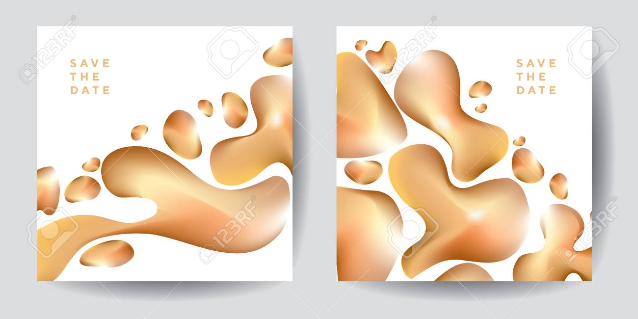Gold Organic Shapes Poster Template On White Background Luxury Royalty Free Cliparts Vectors And Stock Illustration Image 103501742