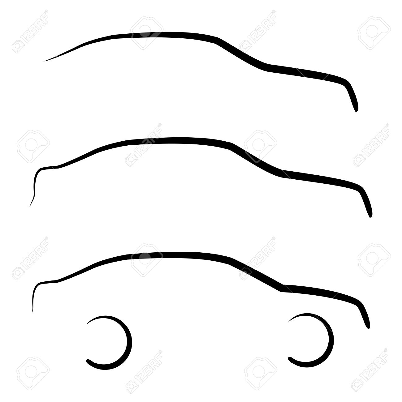 set of abstract car outline silhouettes royalty free cliparts rh 123rf com outlines car vector drawing vintage car outline vector