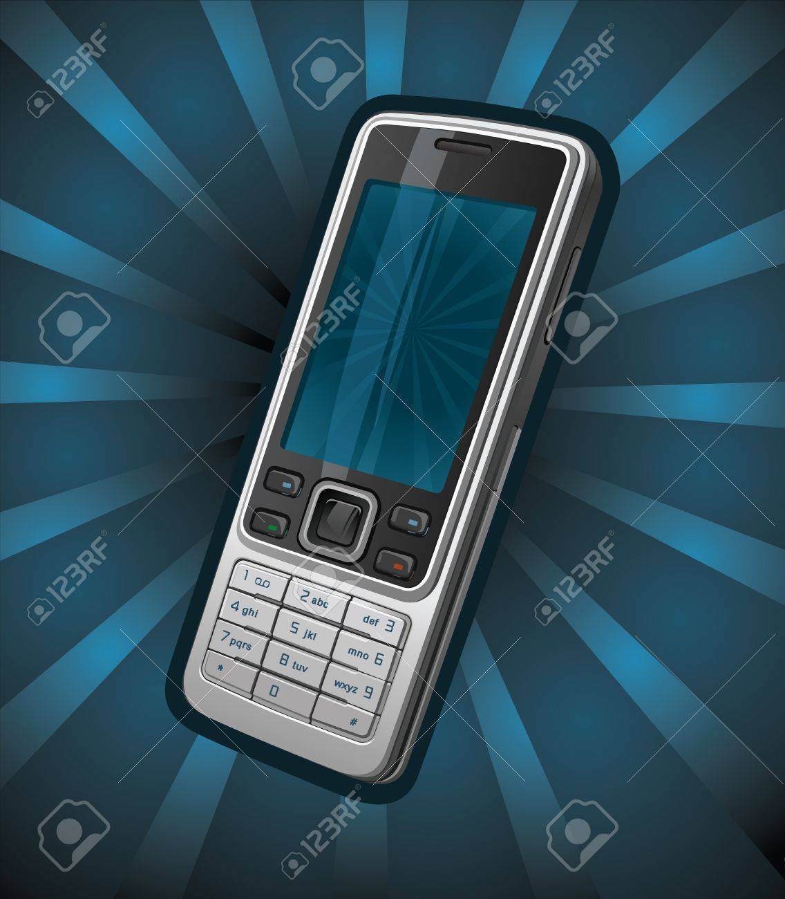 Cell phone for banners Stock Vector - 9909937