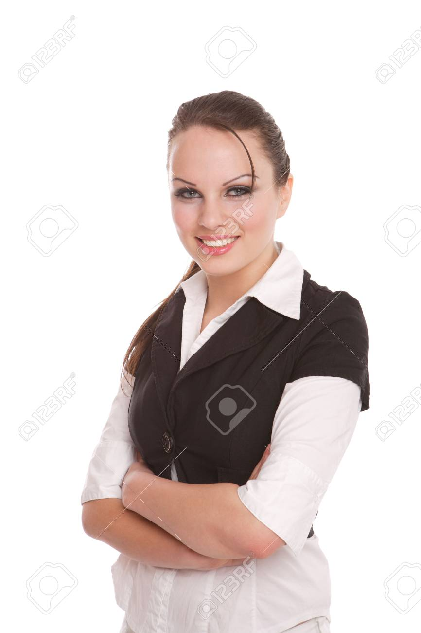 Attractive Businesswoman with her arms crossed Stock Photo - 7042155