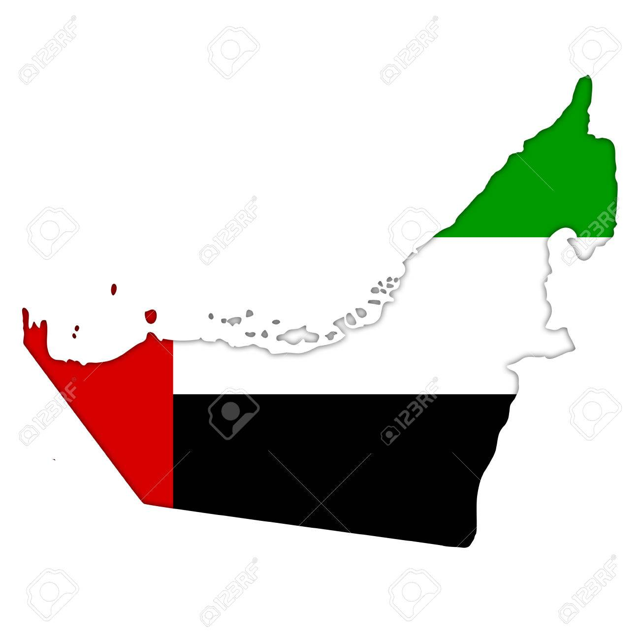 United Arab Emirates Flag Icon Map Stock Photo, Picture And Royalty ...