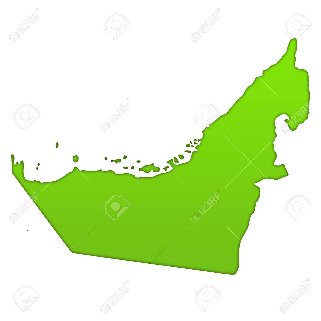 stock photo united arab emirates country icon map
