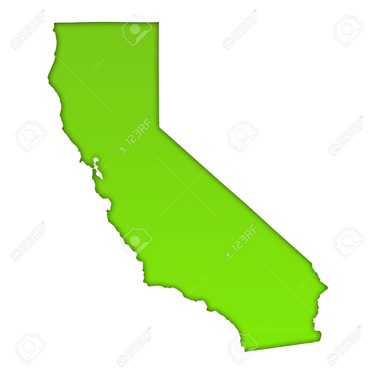 California Map Icon.California Country Map Icon Stock Photo Picture And Royalty Free