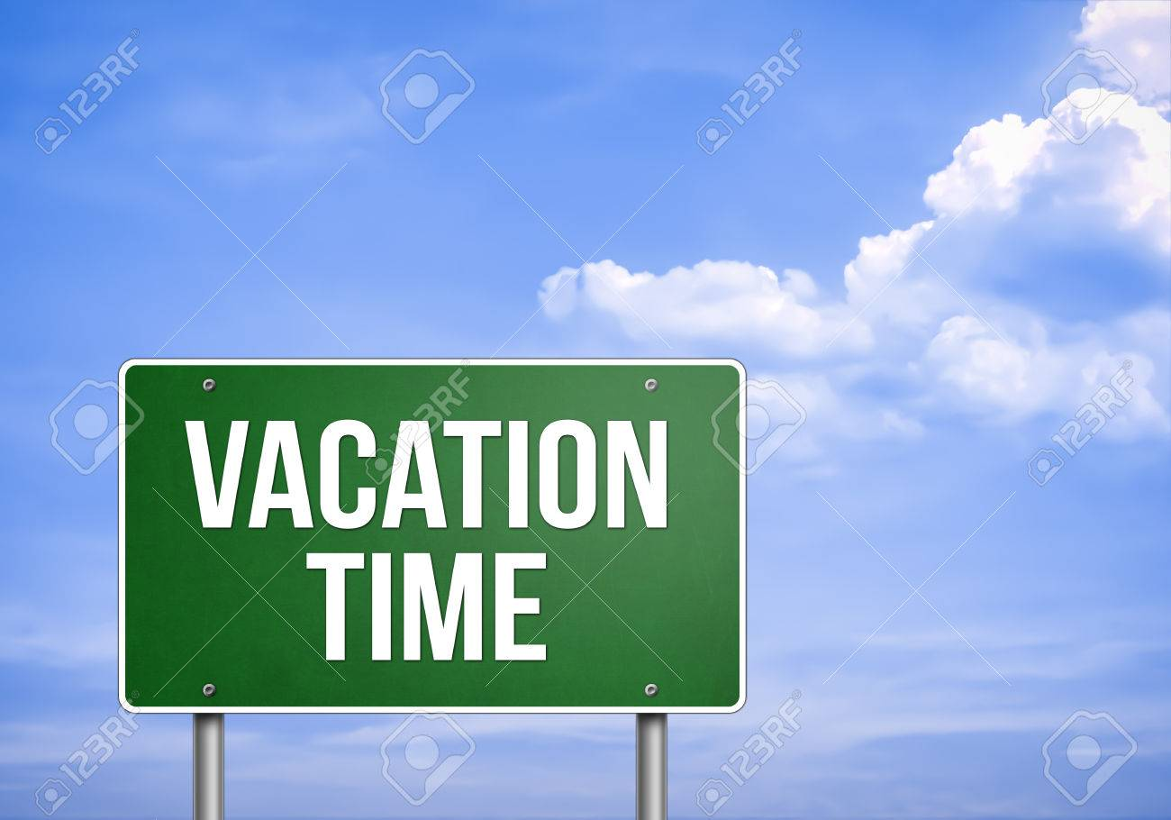 VACATION TIME - Road Sign Concept Stock Photo, Picture And Royalty ...