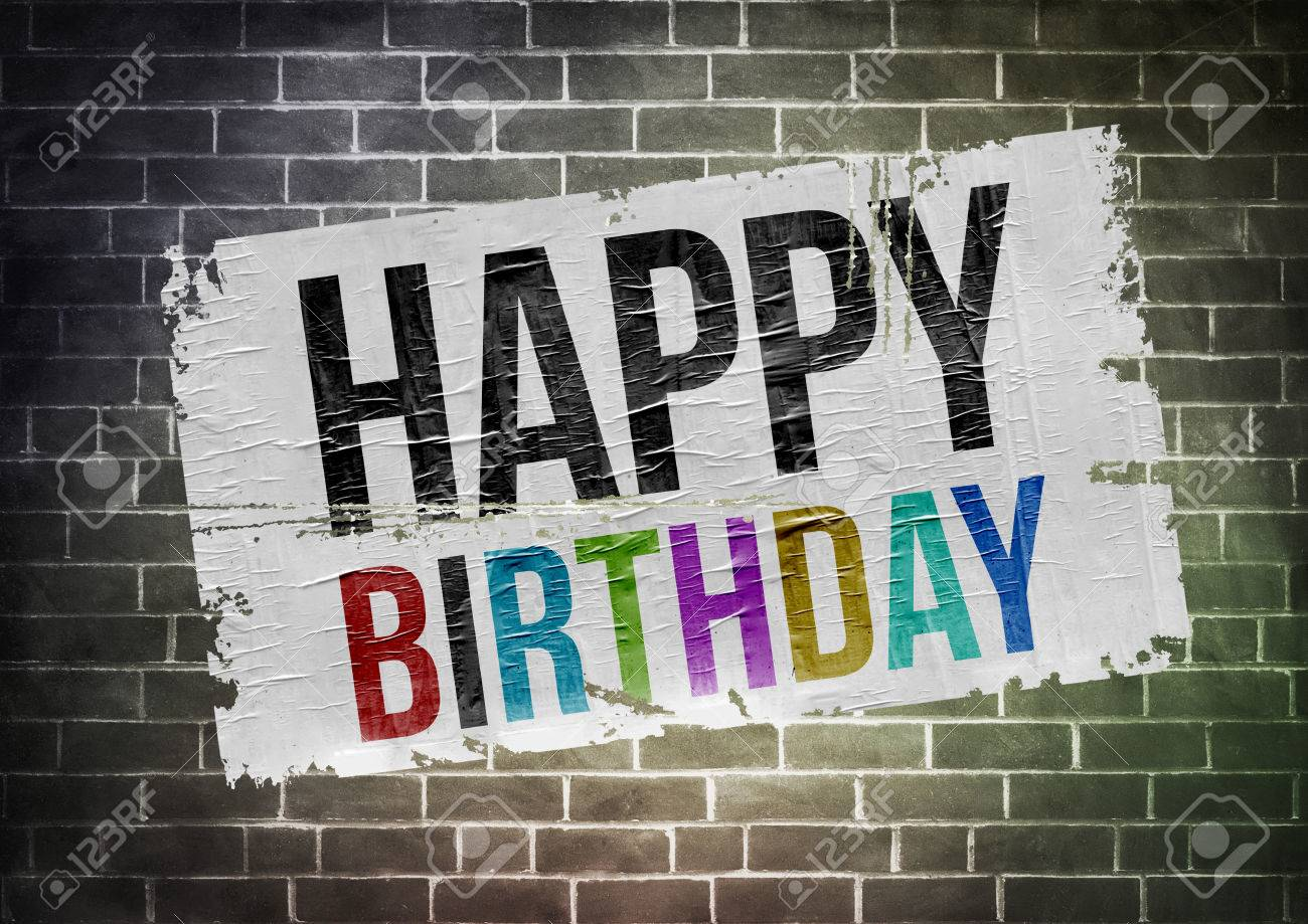 happy birthday poster illustration stock photo picture and