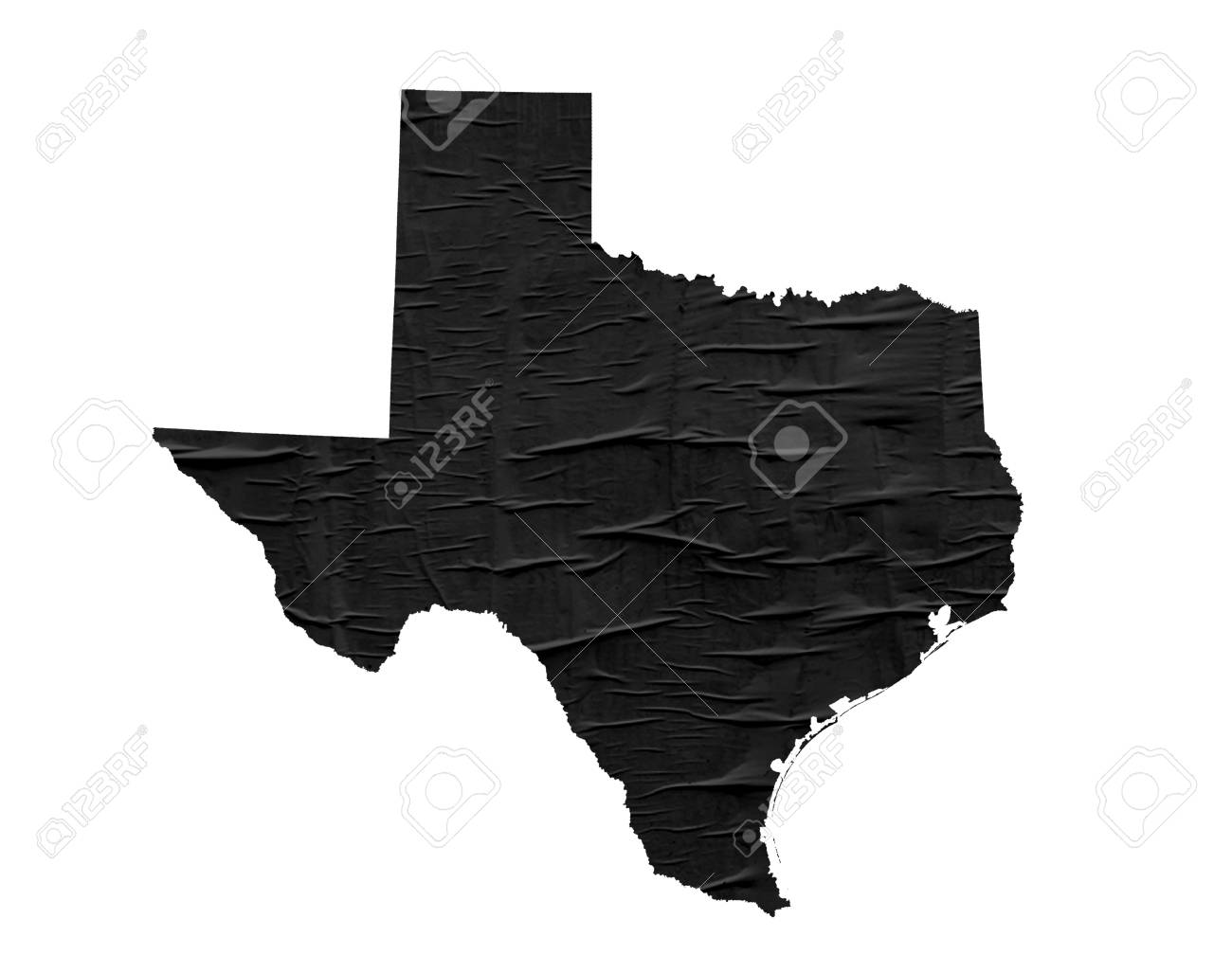 US State Texas Map On Old Paper Design Stock Photo, Picture And ...