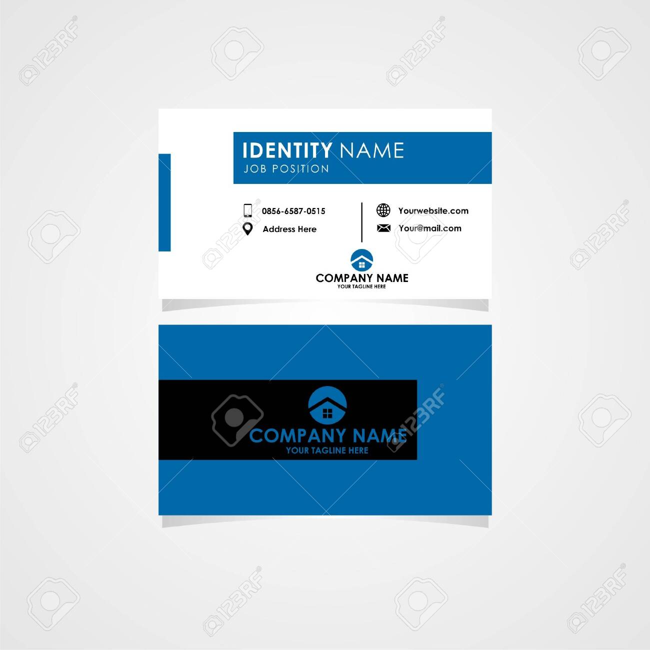 this business card with simple style is perfect for your real estate or property project. - 147493855