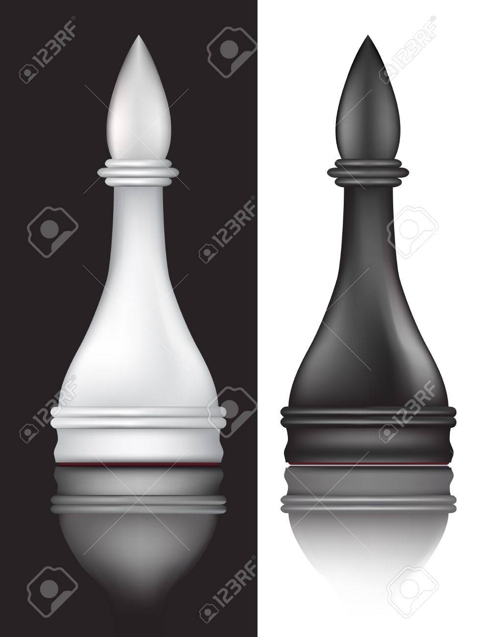 black and white chess Stock Vector - 9686901