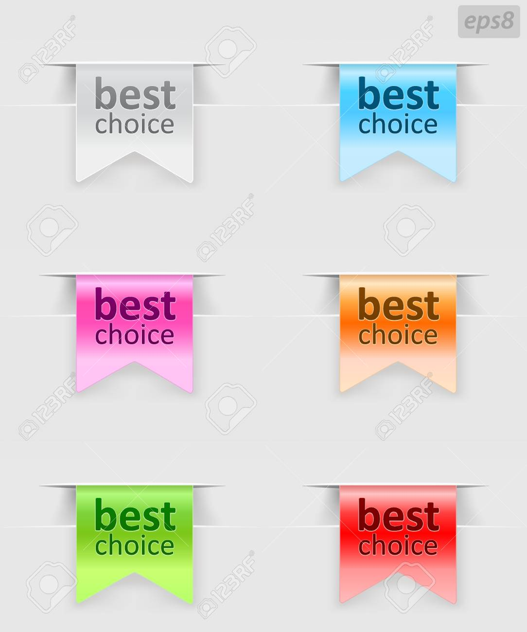 labels with color variations Stock Vector - 9654973