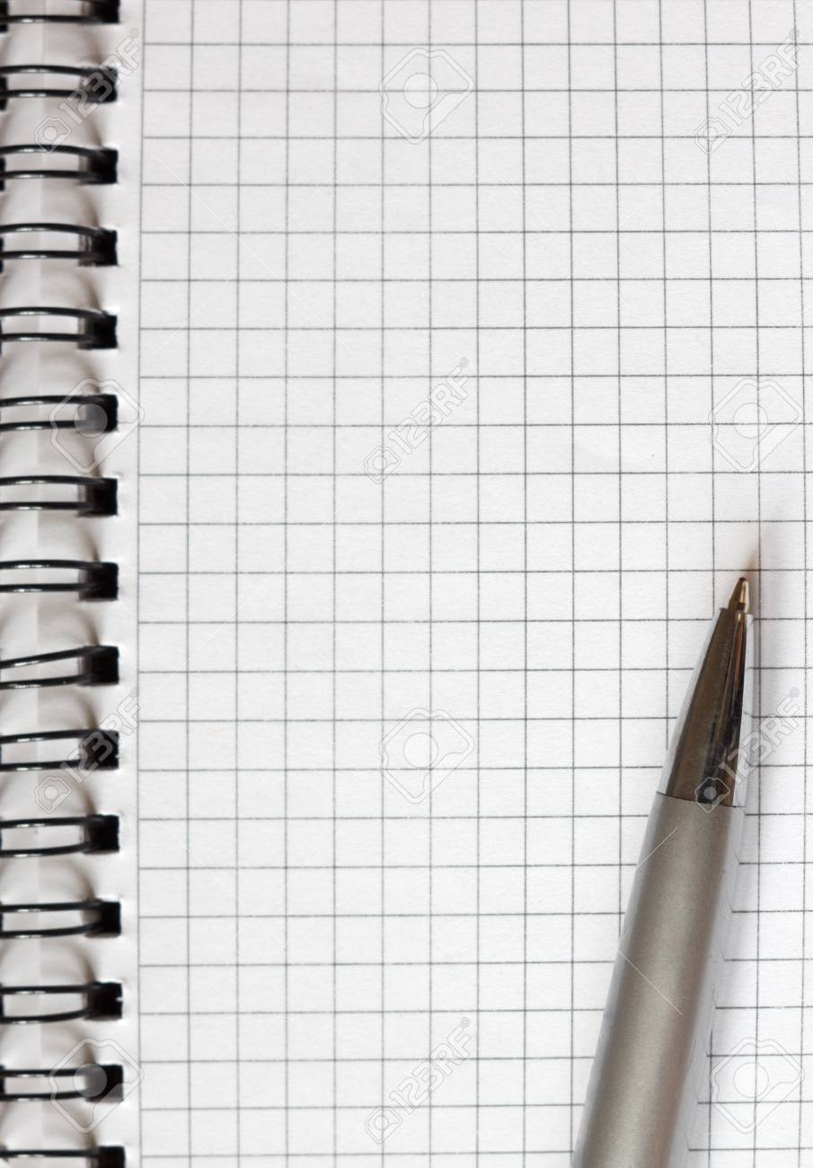 open notebook and a pen close-up Stock Photo - 11893570