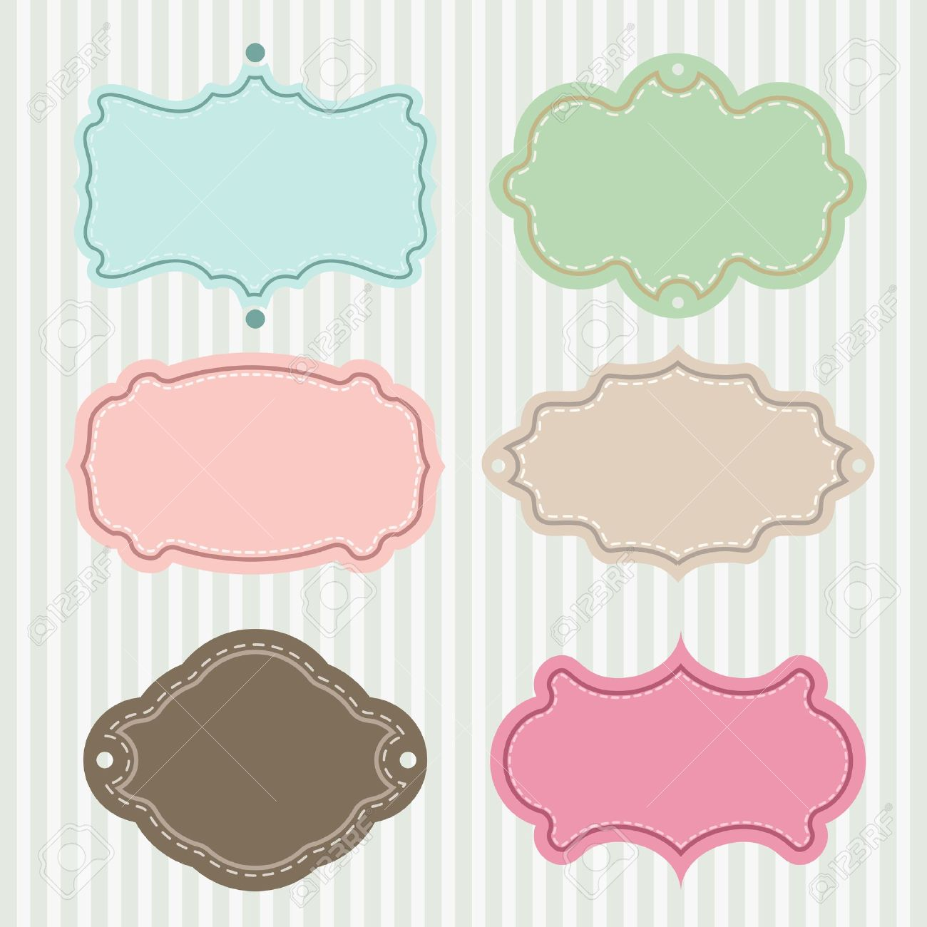 Set Of Vintage Frames On Stylish Background Royalty Free Cliparts ...