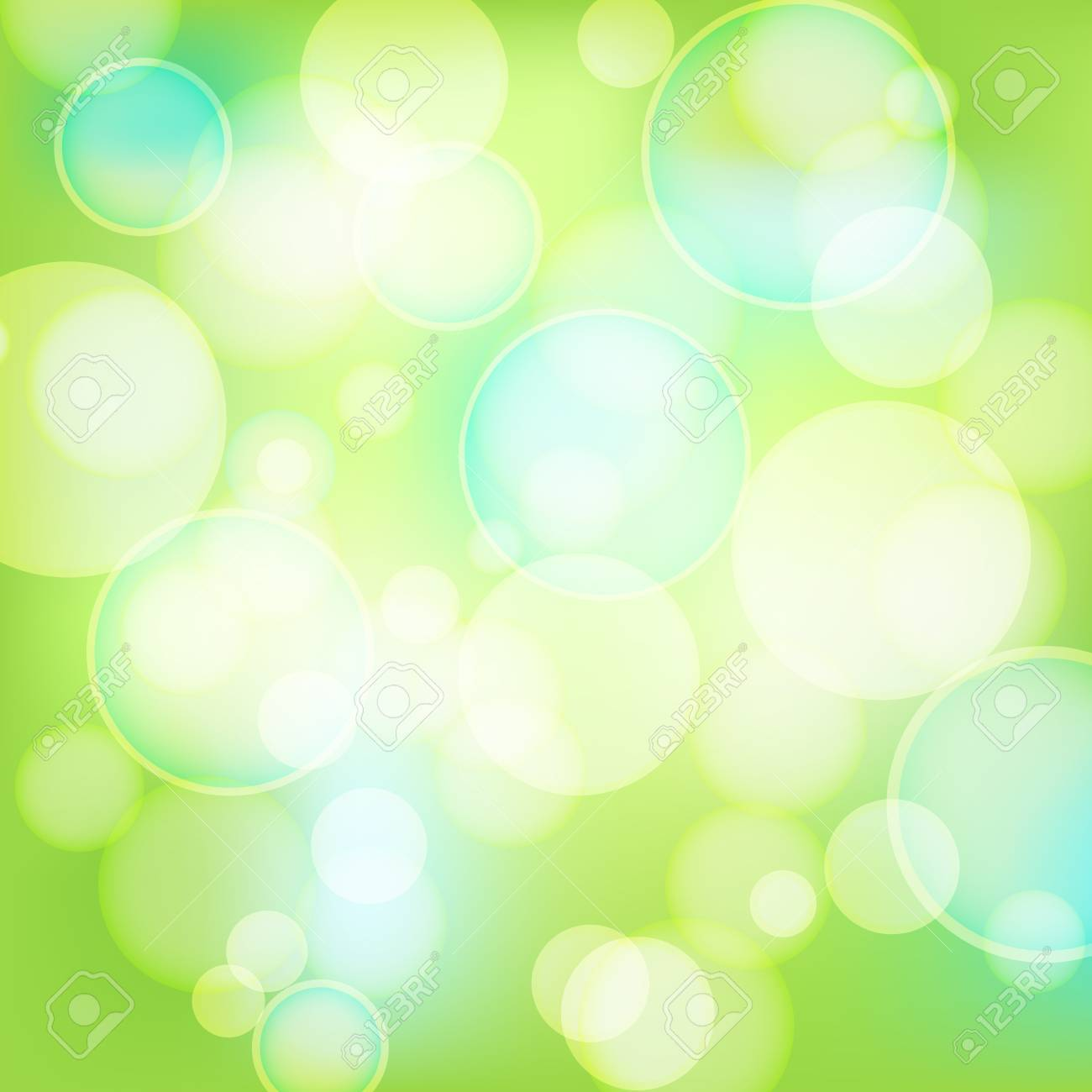 abstract spring background with lights Stock Vector - 12448815