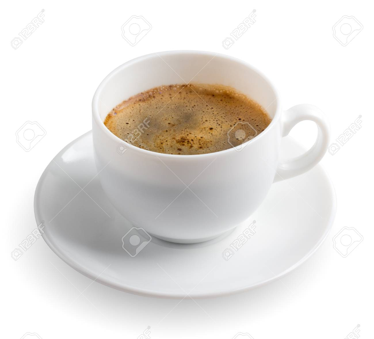 hot coffee cup on white Stock Photo - 17452742