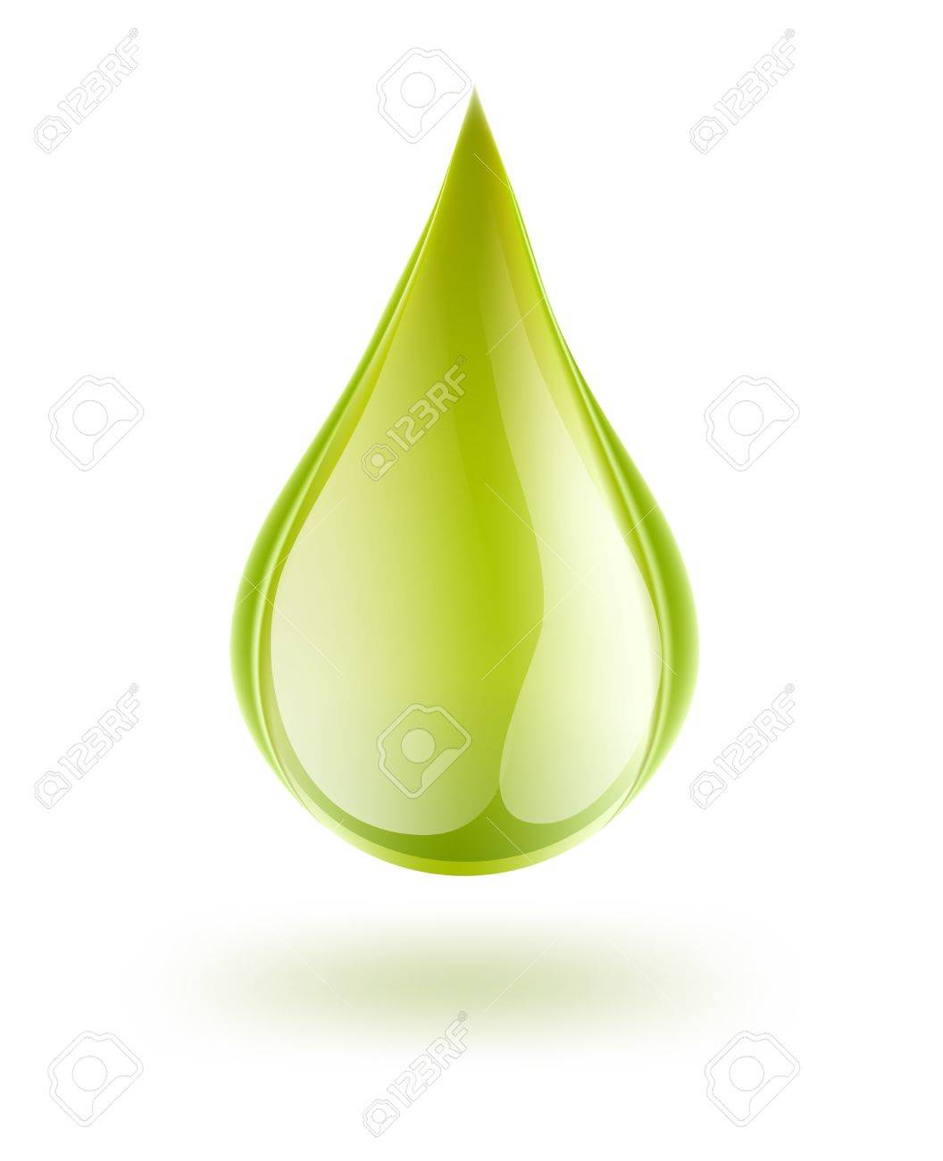 drop of petrol on white Stock Vector - 18166027