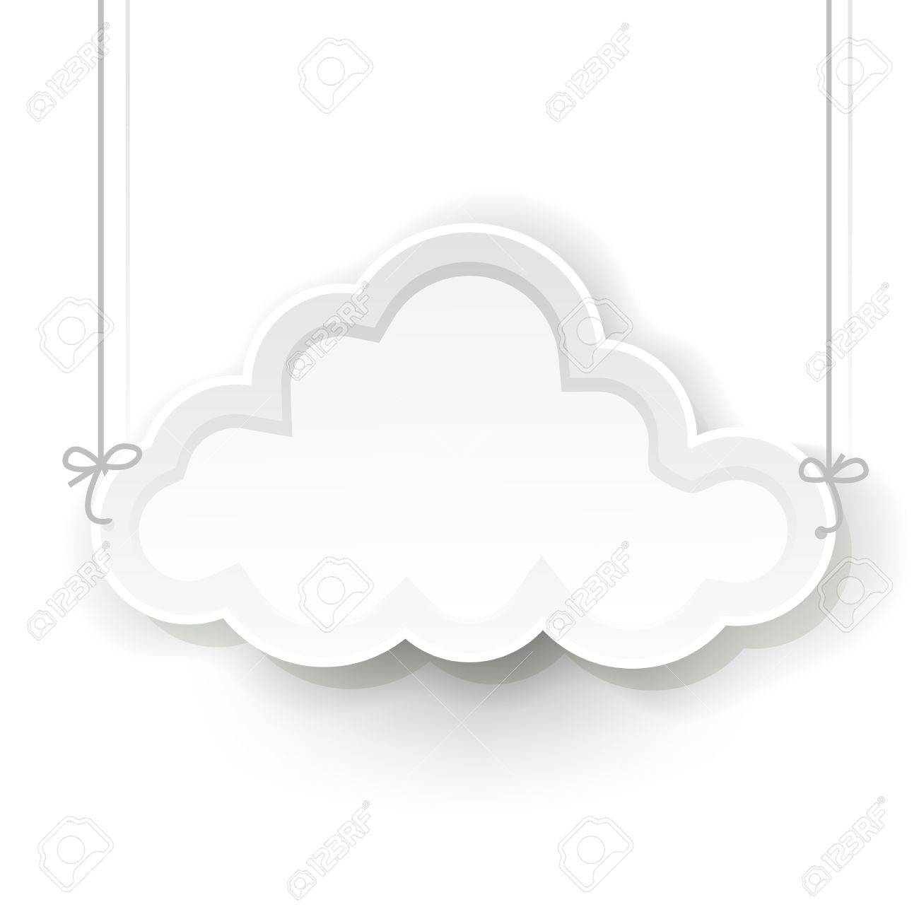 White cloud symbol hanging on white background royalty free white cloud symbol hanging on white background stock vector 19017704 biocorpaavc Gallery