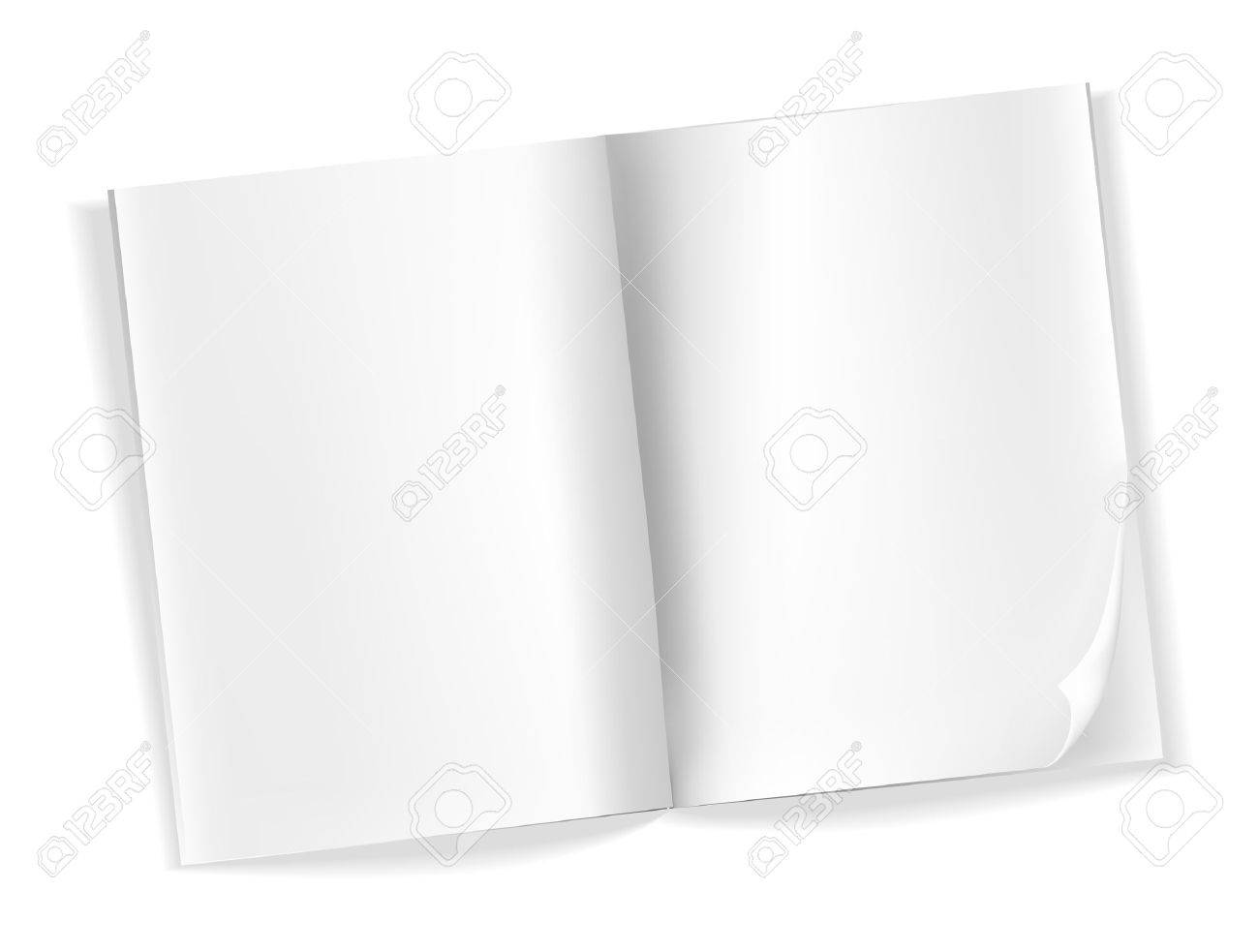 open blank magazine pages on white Stock Vector - 21634382