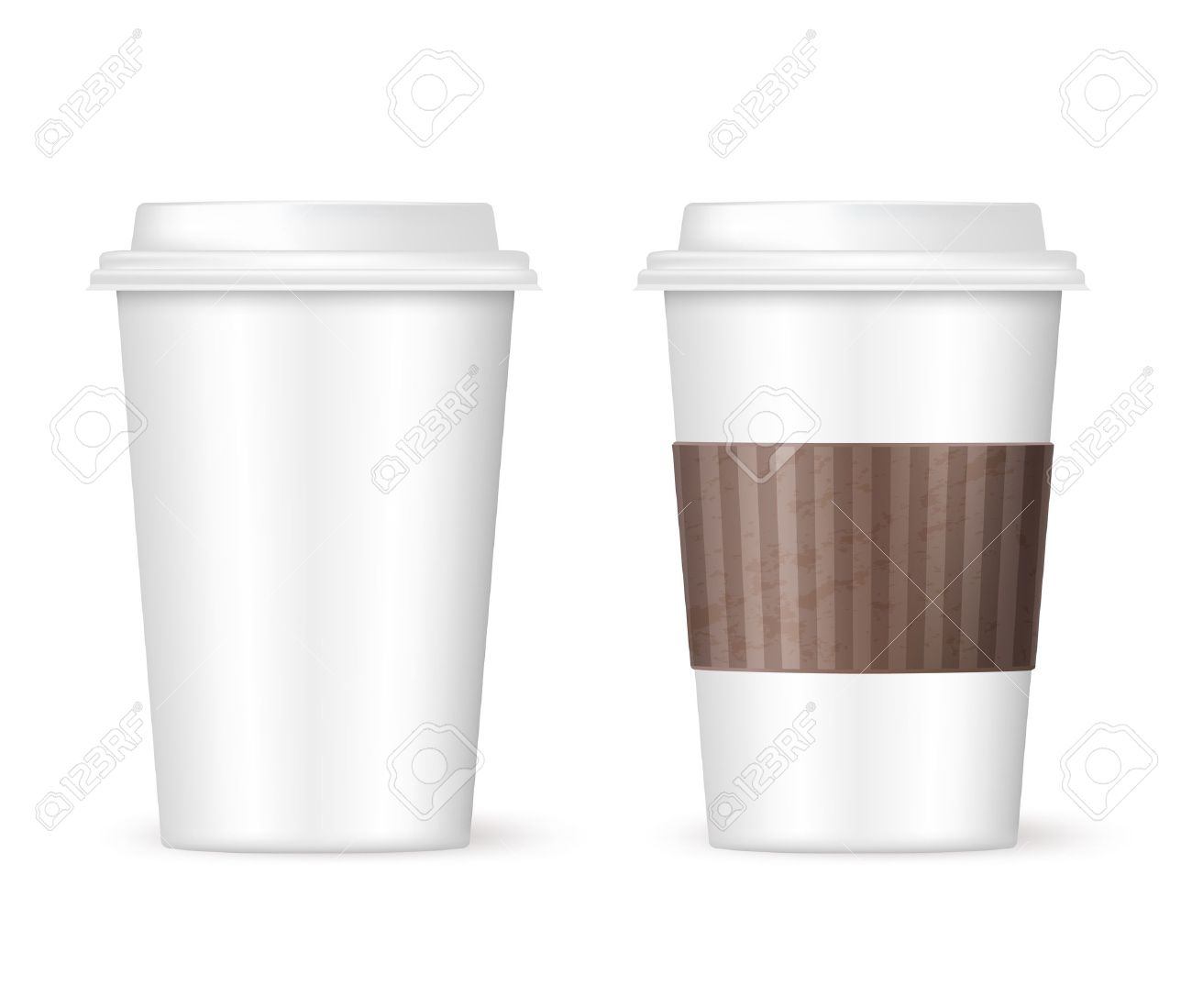 Two Coffee Cups To Go Stock Vector 21634389