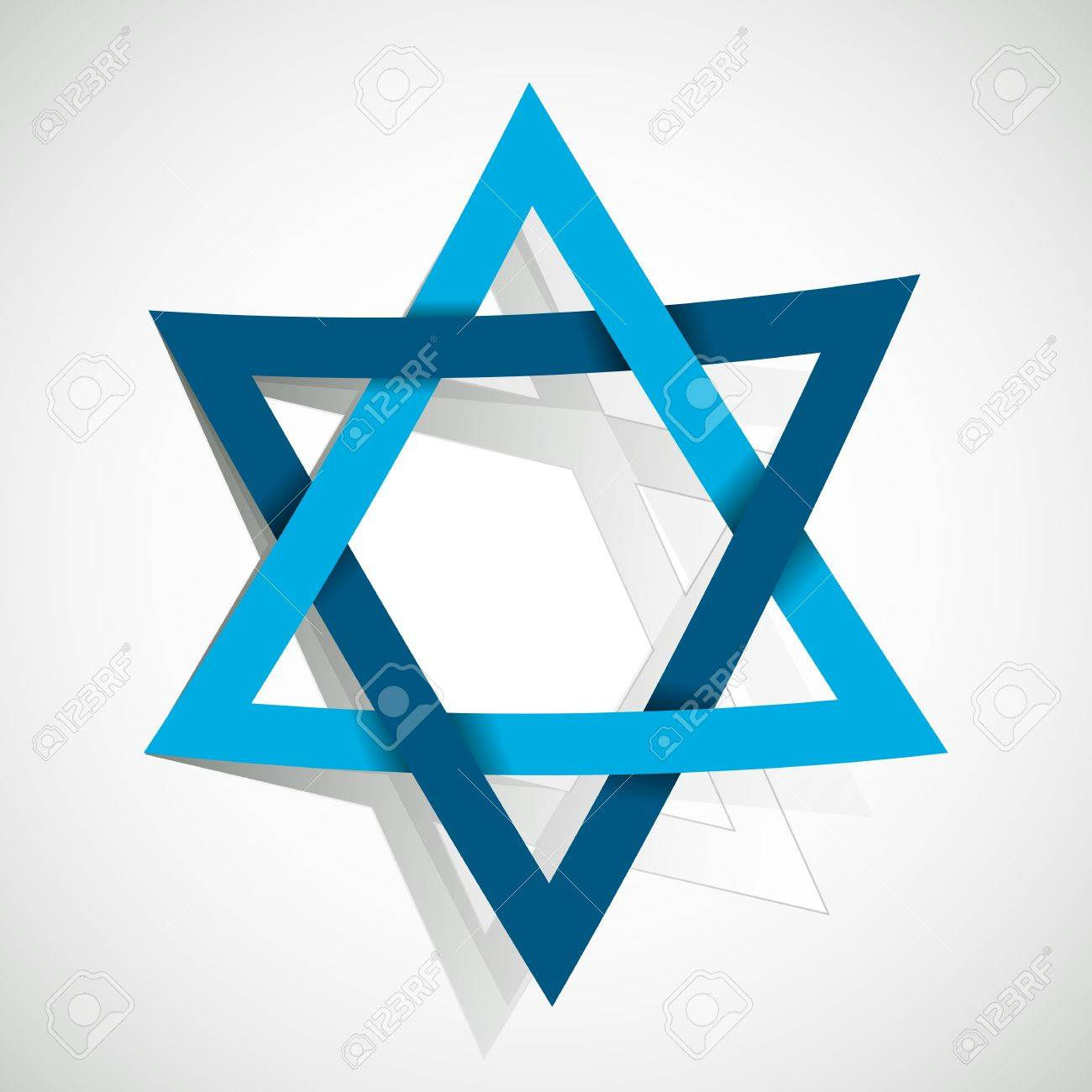 star of David made of paper cut out Stock Vector - 21634396