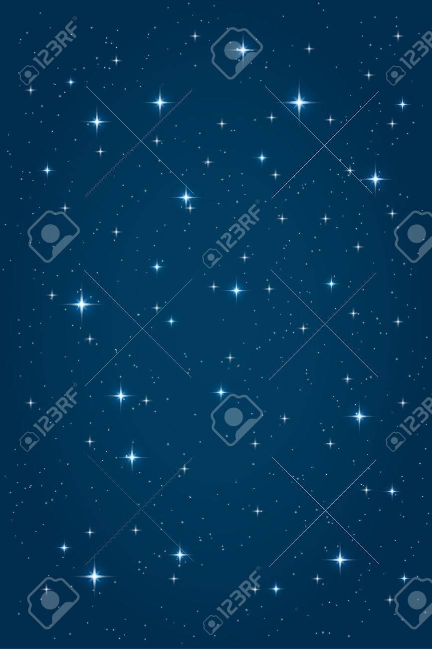 Vettoriale Sfondo Stellato Di Notte Blu Modello Di Disegno