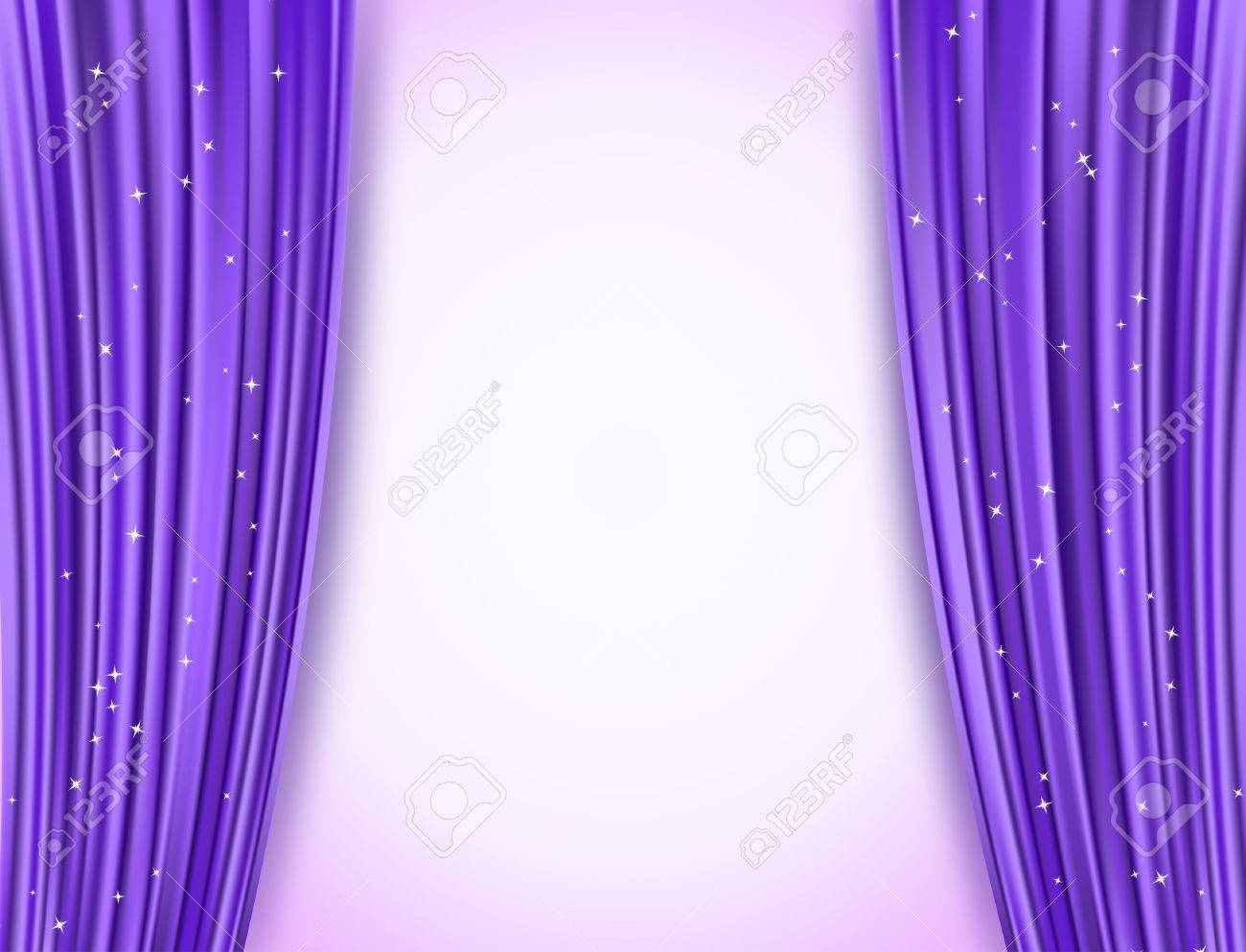 violet theater curtains with glitter - 54325989