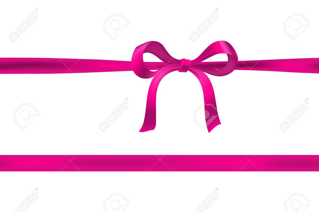 pink bow on white with horizontal ribbon vector royalty free rh 123rf com pink ribbon vector transparent pink ribbon vector transparent